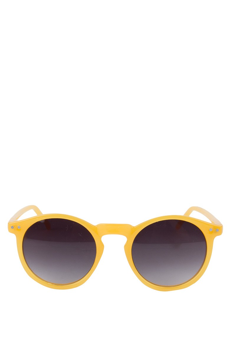 yellow round sunglasses