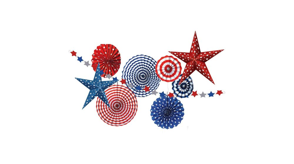 patriotic party decor kit