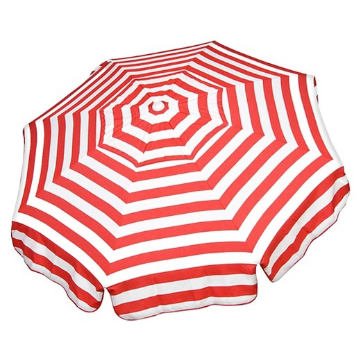 red + white stripe umbrella