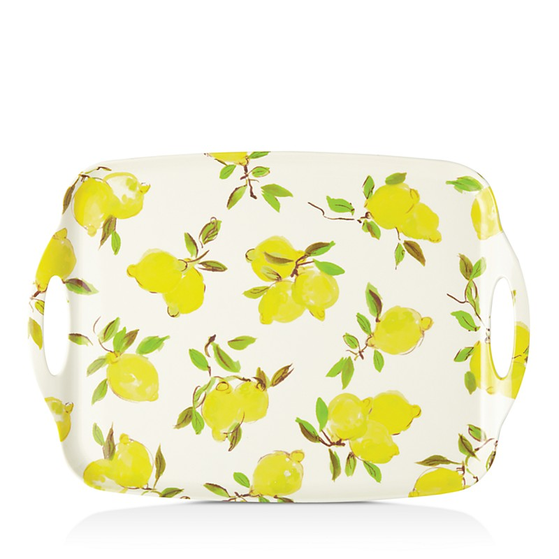 kate spade lemon serving tray
