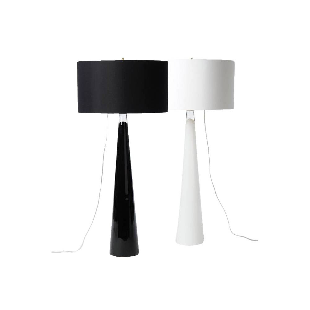 black + white lamps