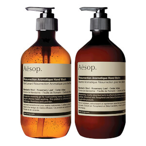 aesop cleaner + lotion set