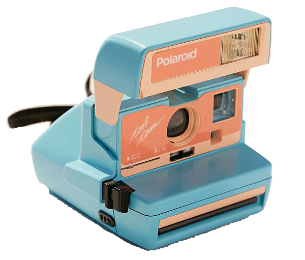 refurbished vintage polaroid camera