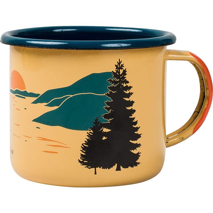 camping enamel steel mug