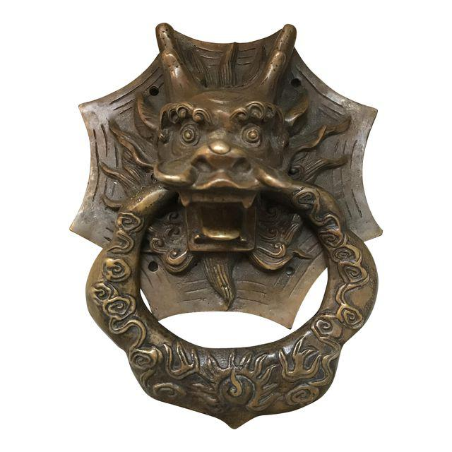 brass dragon door knocker