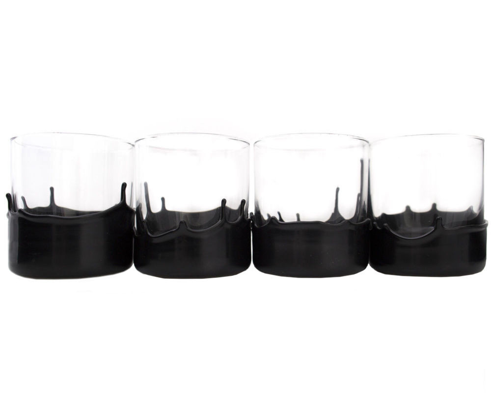wax dipped whiskey glasses