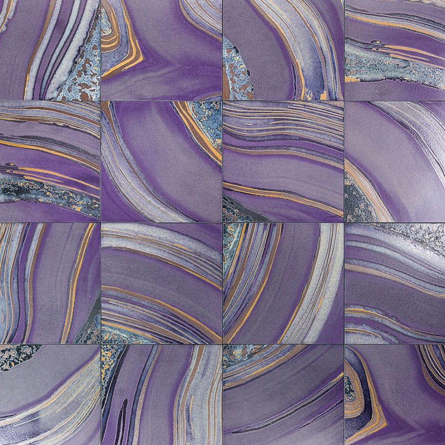 purple porcelain tile