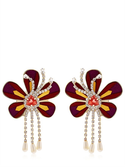 shourouk flower earrings