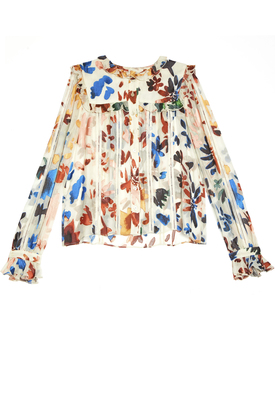 alice & olivia floral blouse