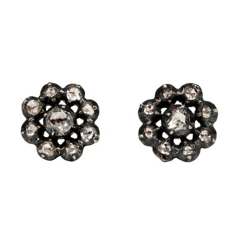 antique diamond stud earrings