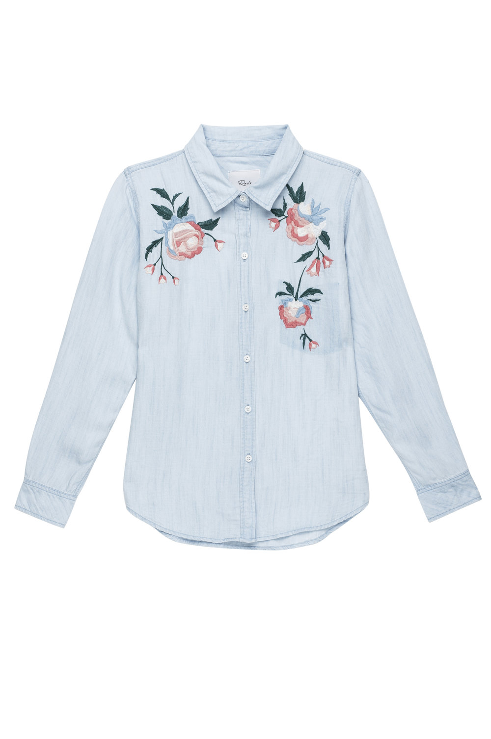 rails floral chambray shirt