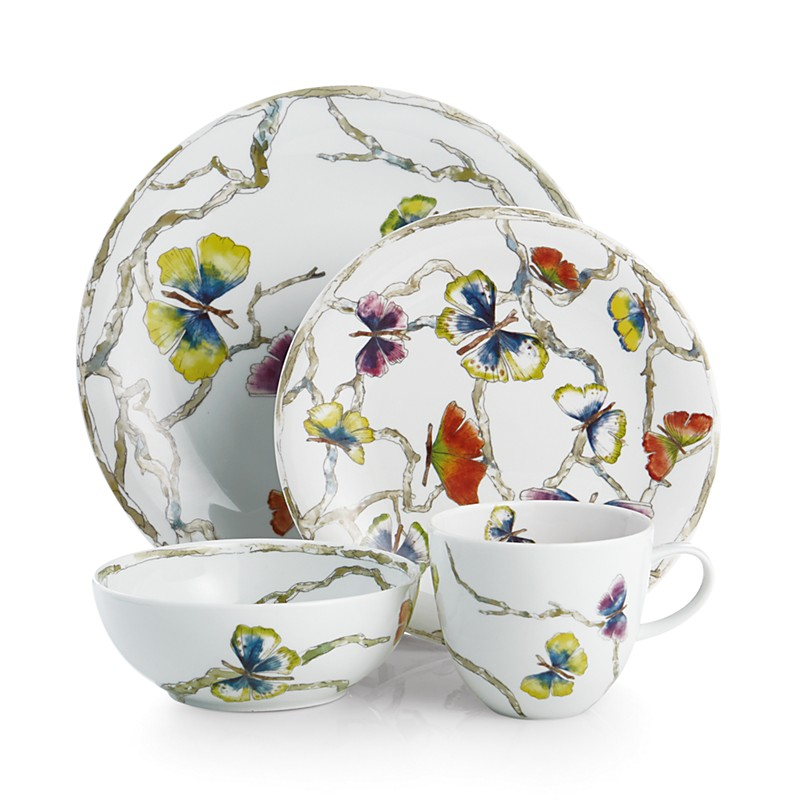 4-piece floral place setting