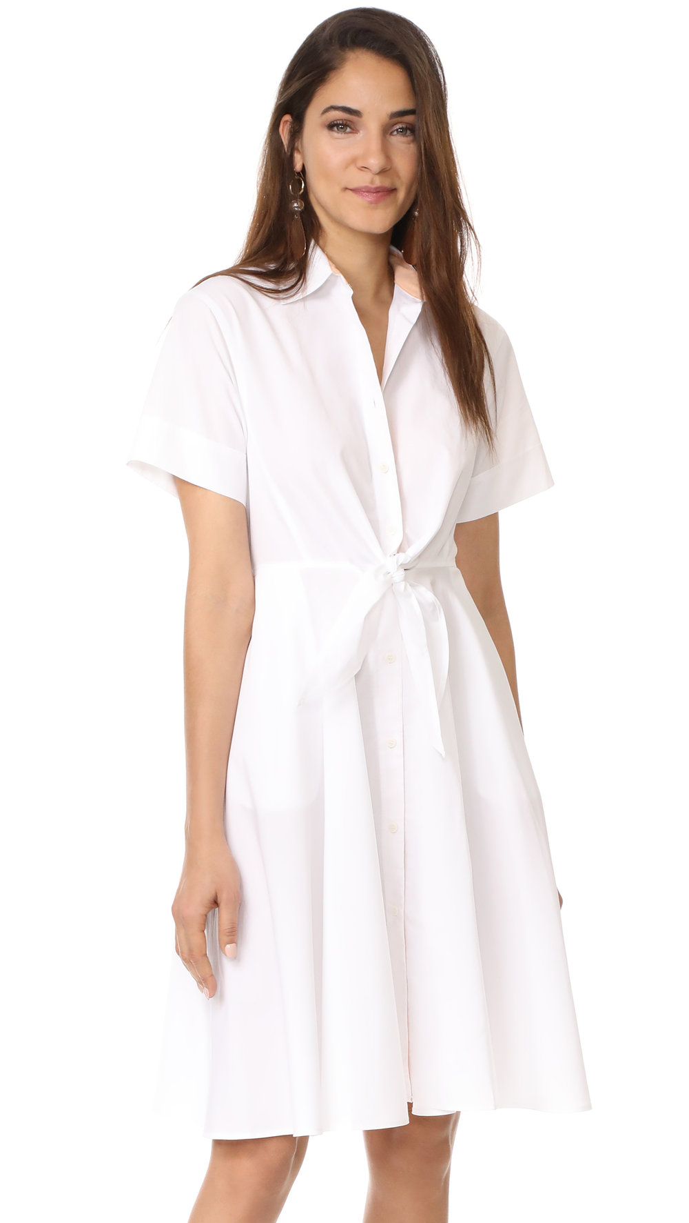 DVF white shirtdress