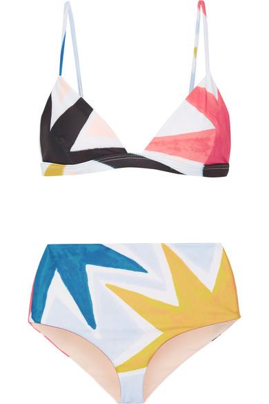 mara hoffman high waisted bikini
