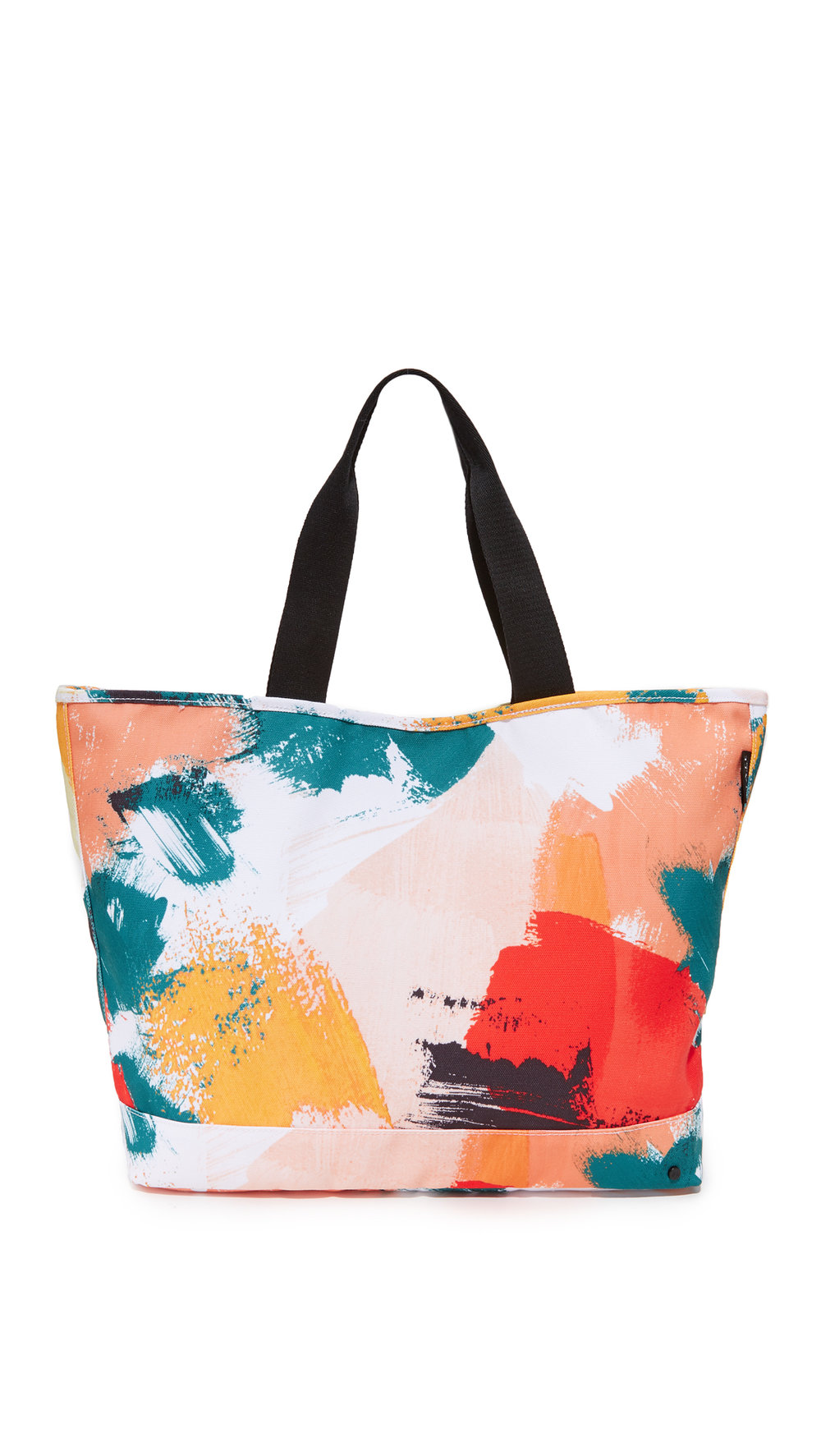 colorful brushstroke tote