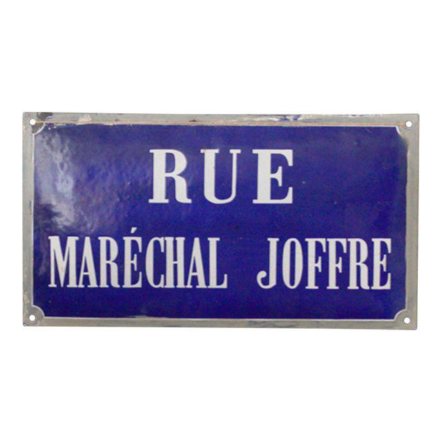 antique french riviera street sign
