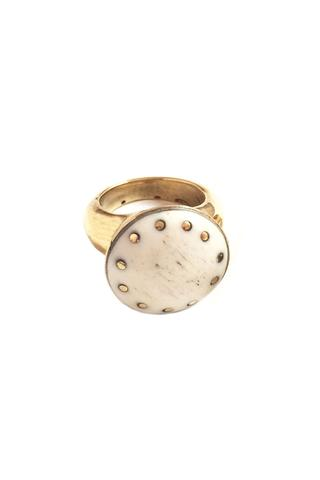 brass + bone statement ring