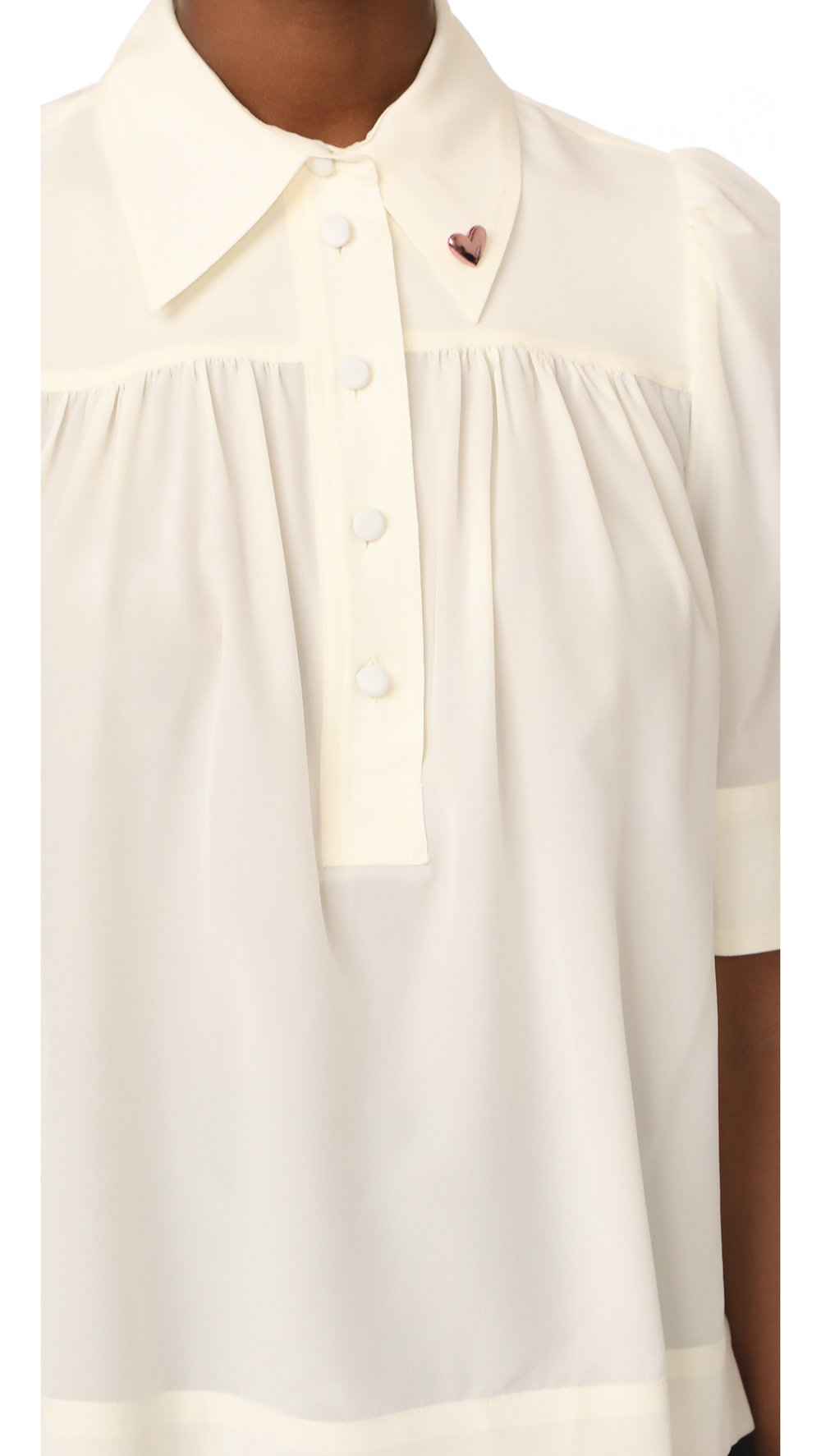 marc jacobs ivory blouse