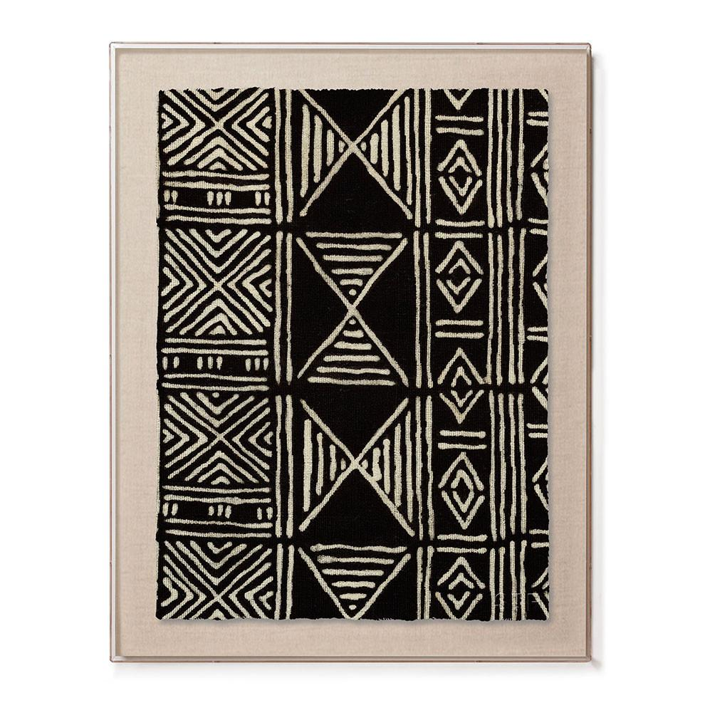 framed mud cloth print