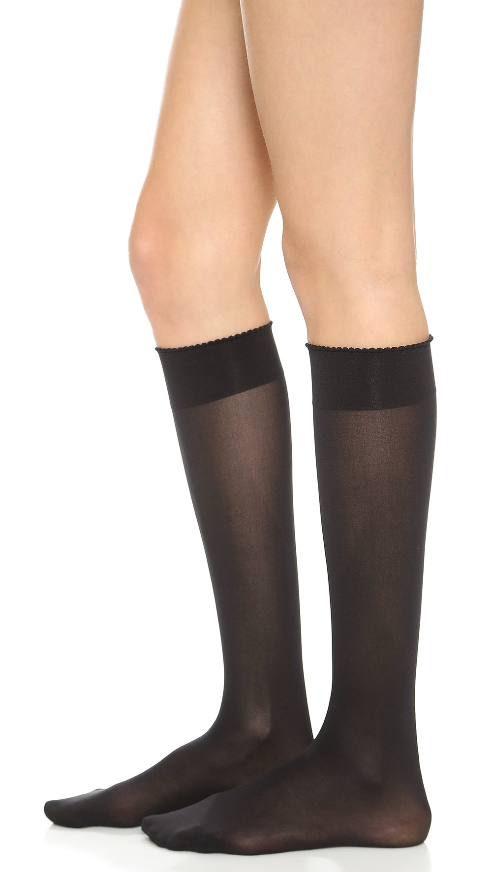 wolford black knee high socks