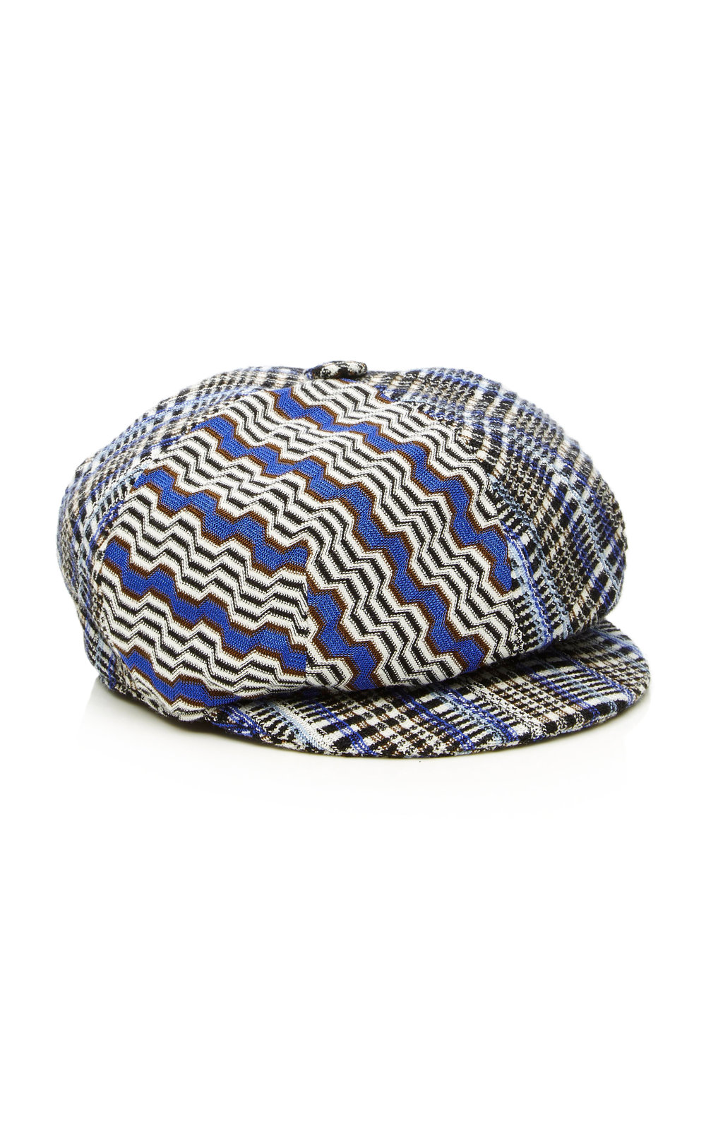 plaid missoni newsboy cap