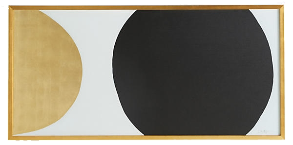 gold + black framed wall art
