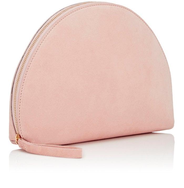 mansur gavriel blush pink clutch