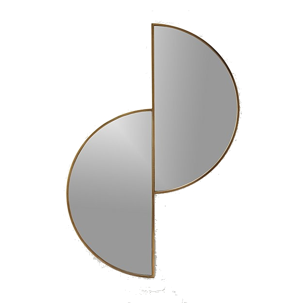 brass half moon wall mirror