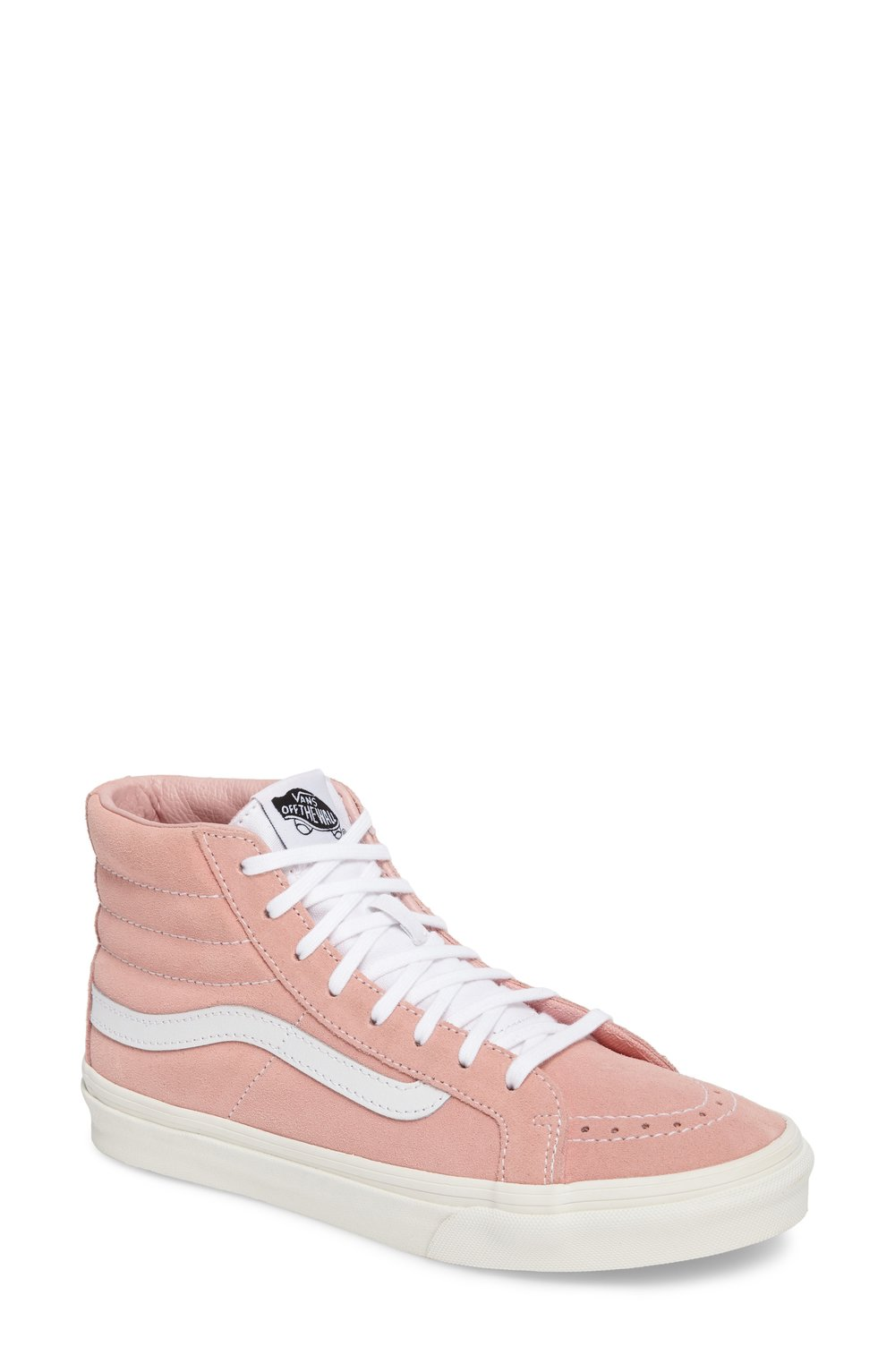vans pink high top sneakers