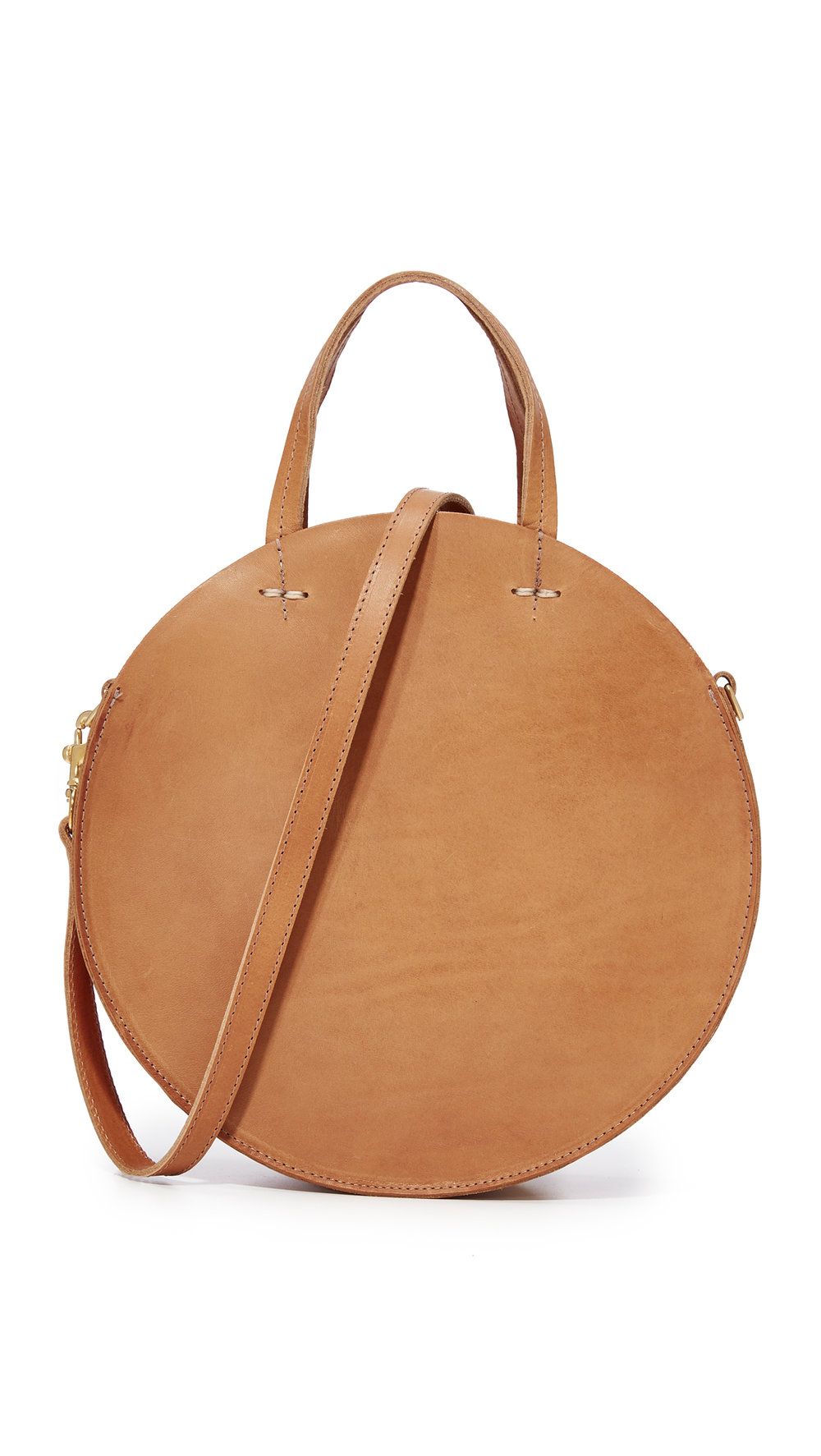 clare v. leather circle bag