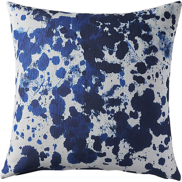 indigo + white throw pillow