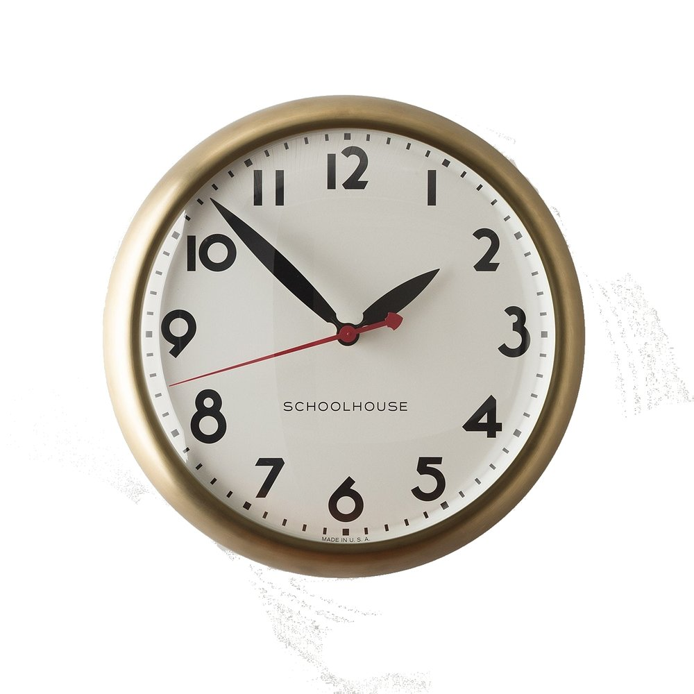 schoolhouse electric brass clock