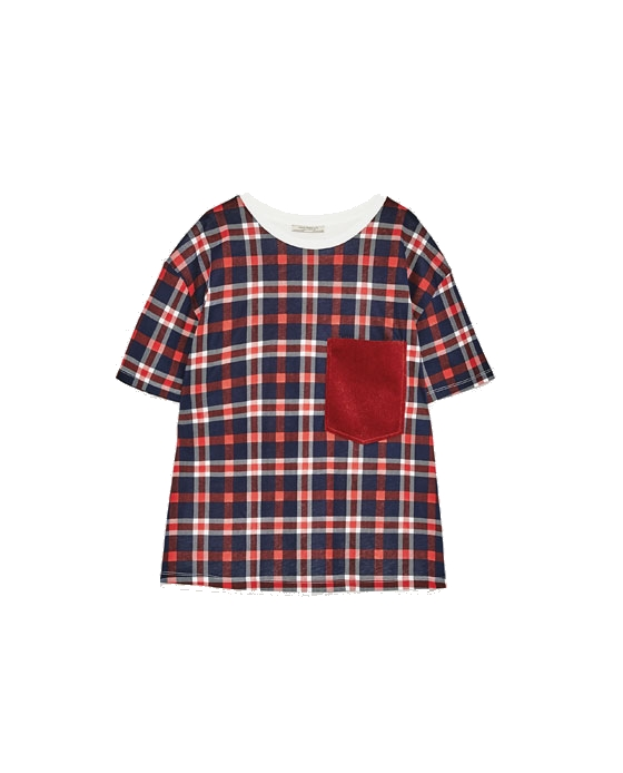 zara plaid tee