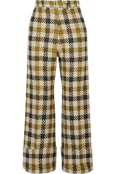 sea cropped plaid pants