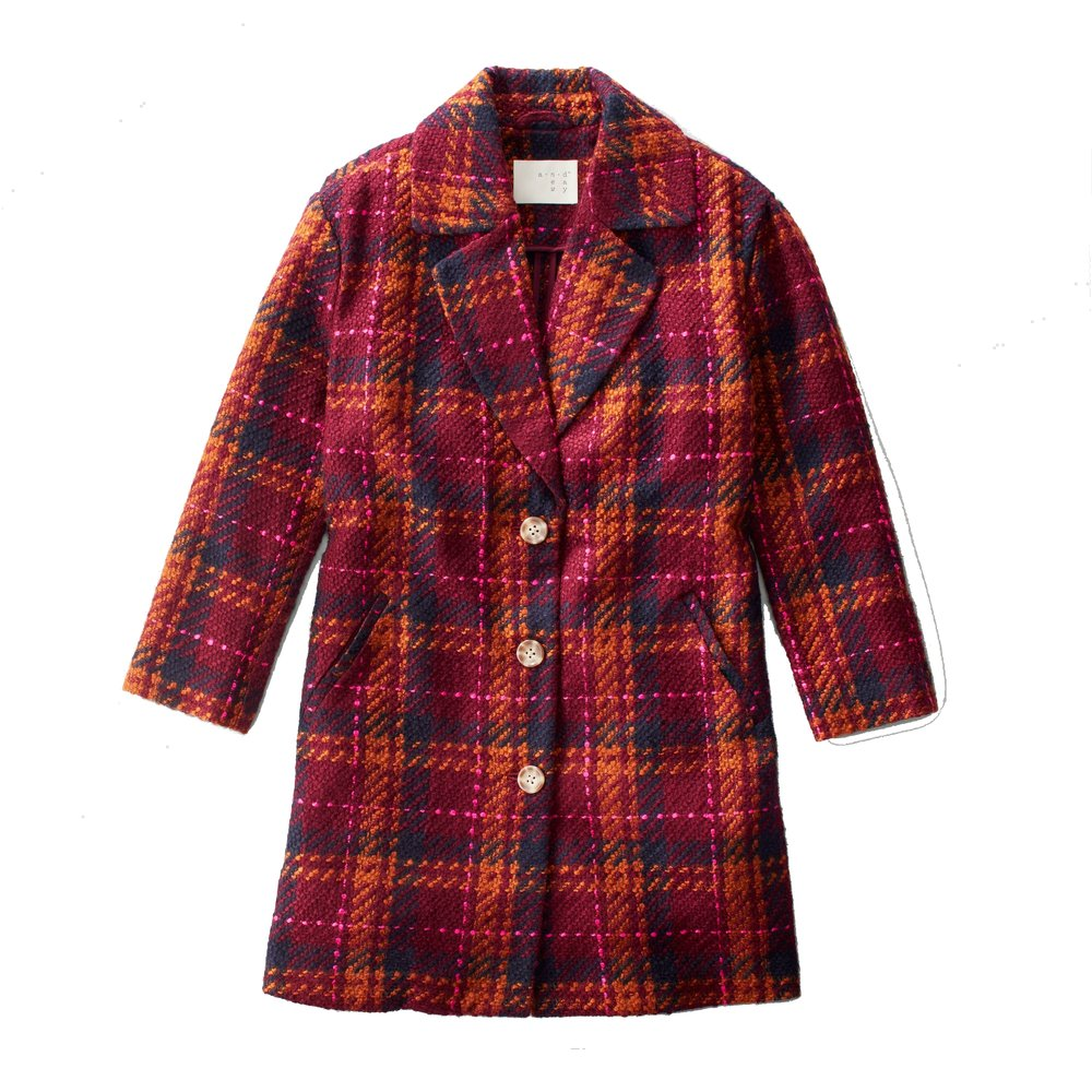 target red plaid coat