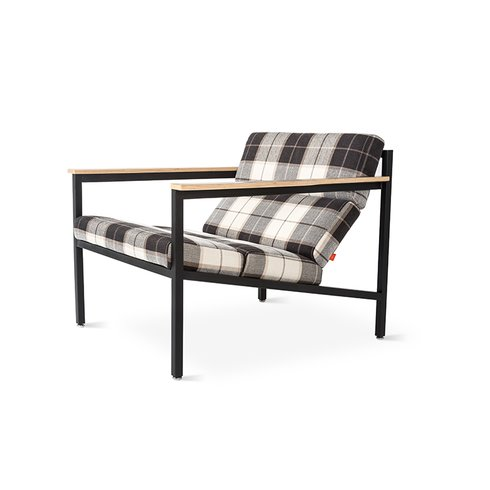 plaid armchair