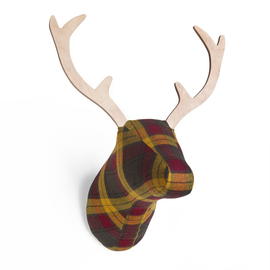 softheads plaid deer head