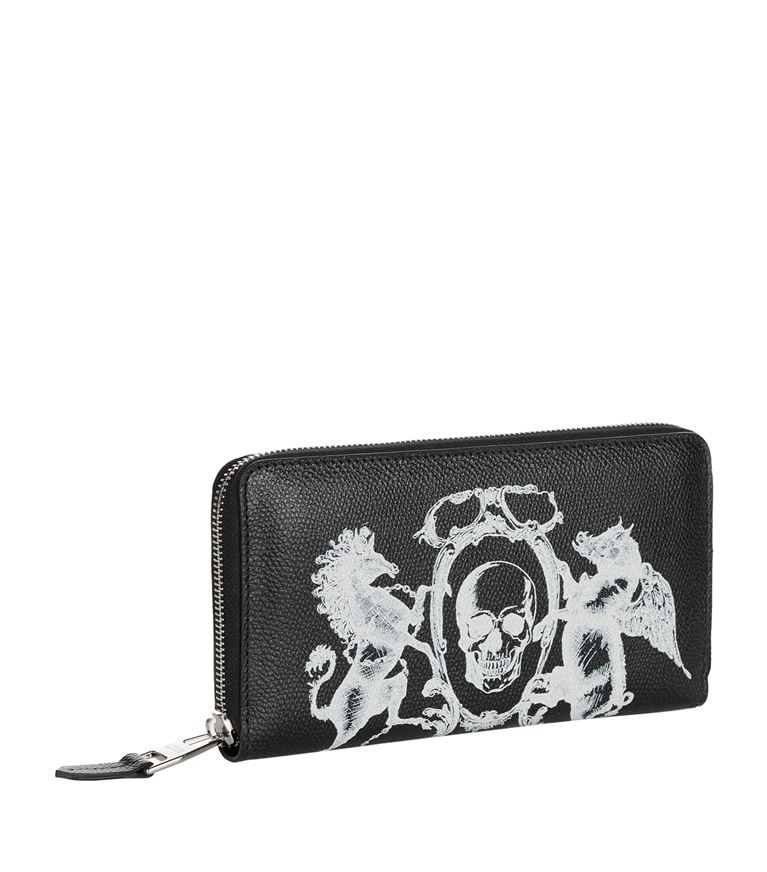 alexander mcqueen painted black wallet