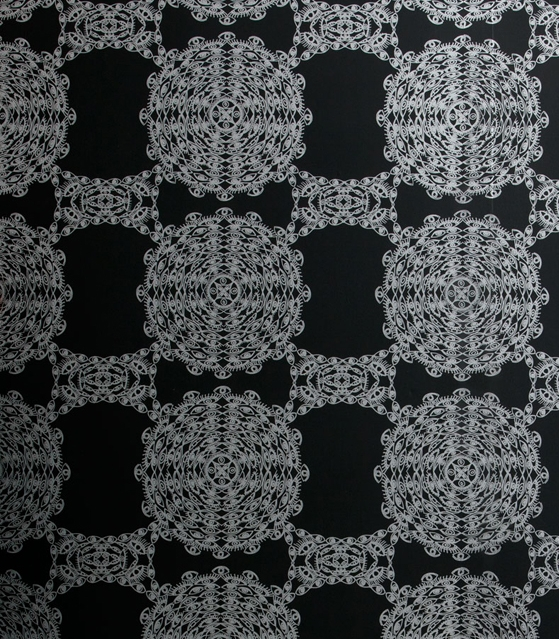 flat vernacular black wallpaper