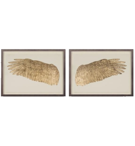framed golden wings