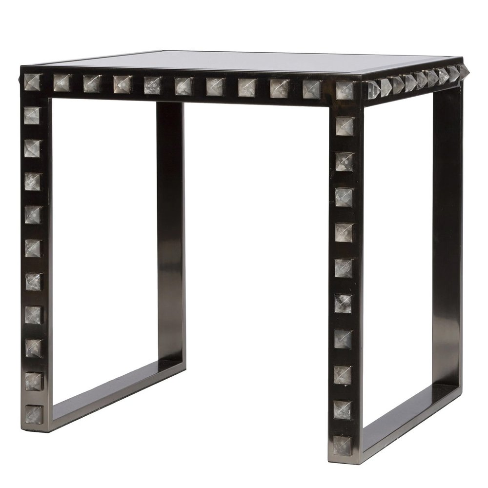 black + silver studded table