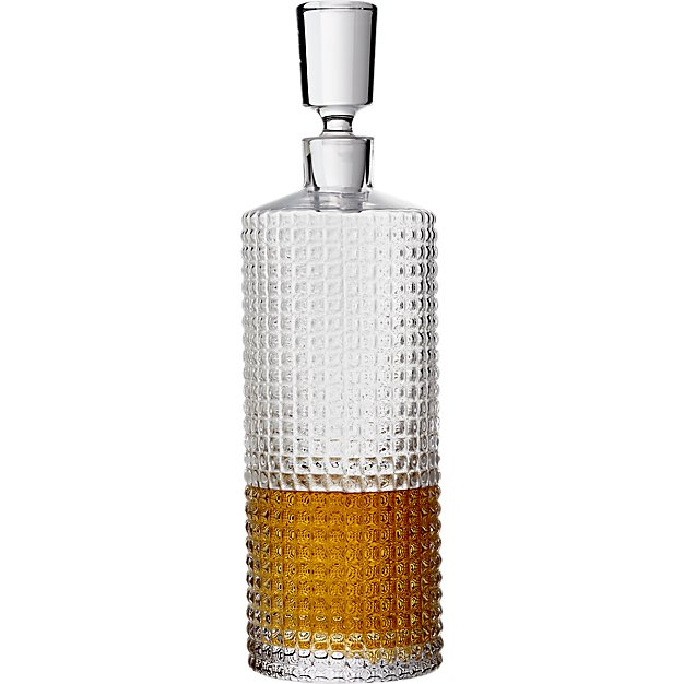cb2 stud decanter