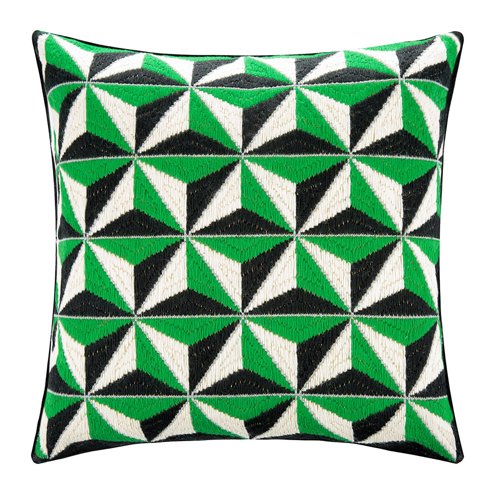 jonathan adler green stud pillow