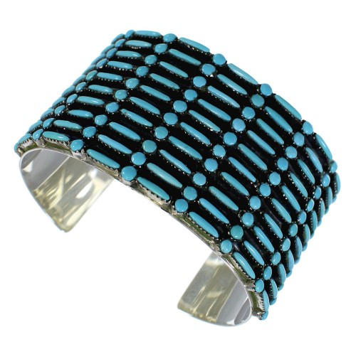 silver + turquoise cuff bracelet