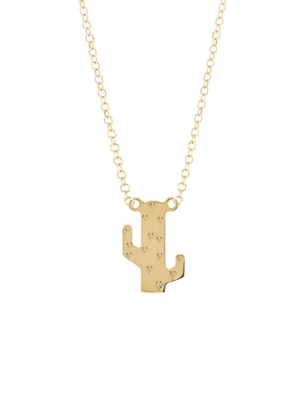the dowry 14k gold cactus necklace