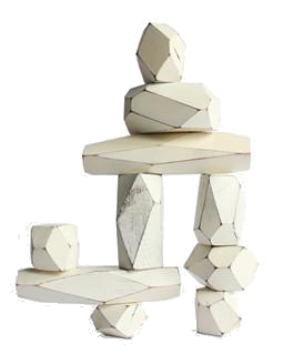 white wooden balancing blocks