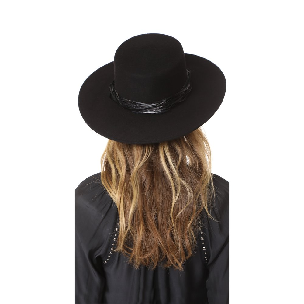 black wool felt hat