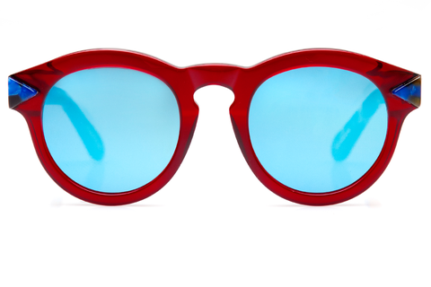 krewe du optic red sunnies