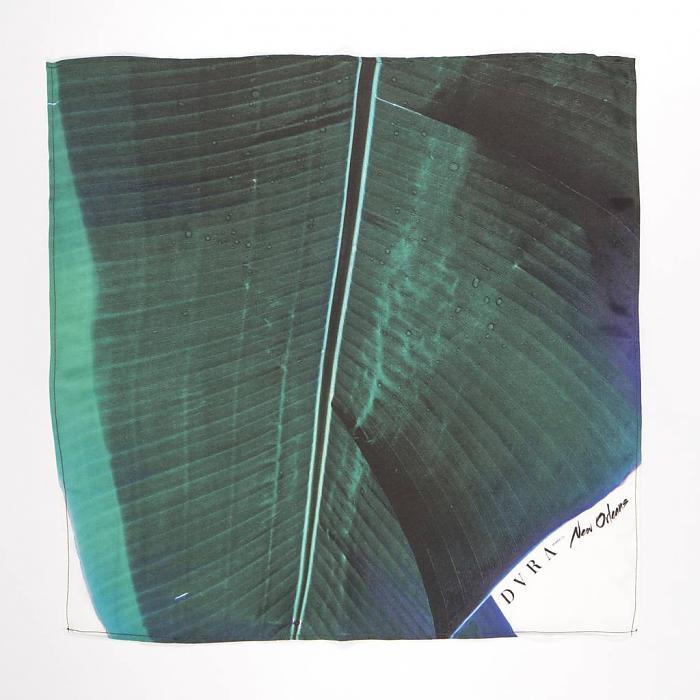 dvra silk palm print scarf