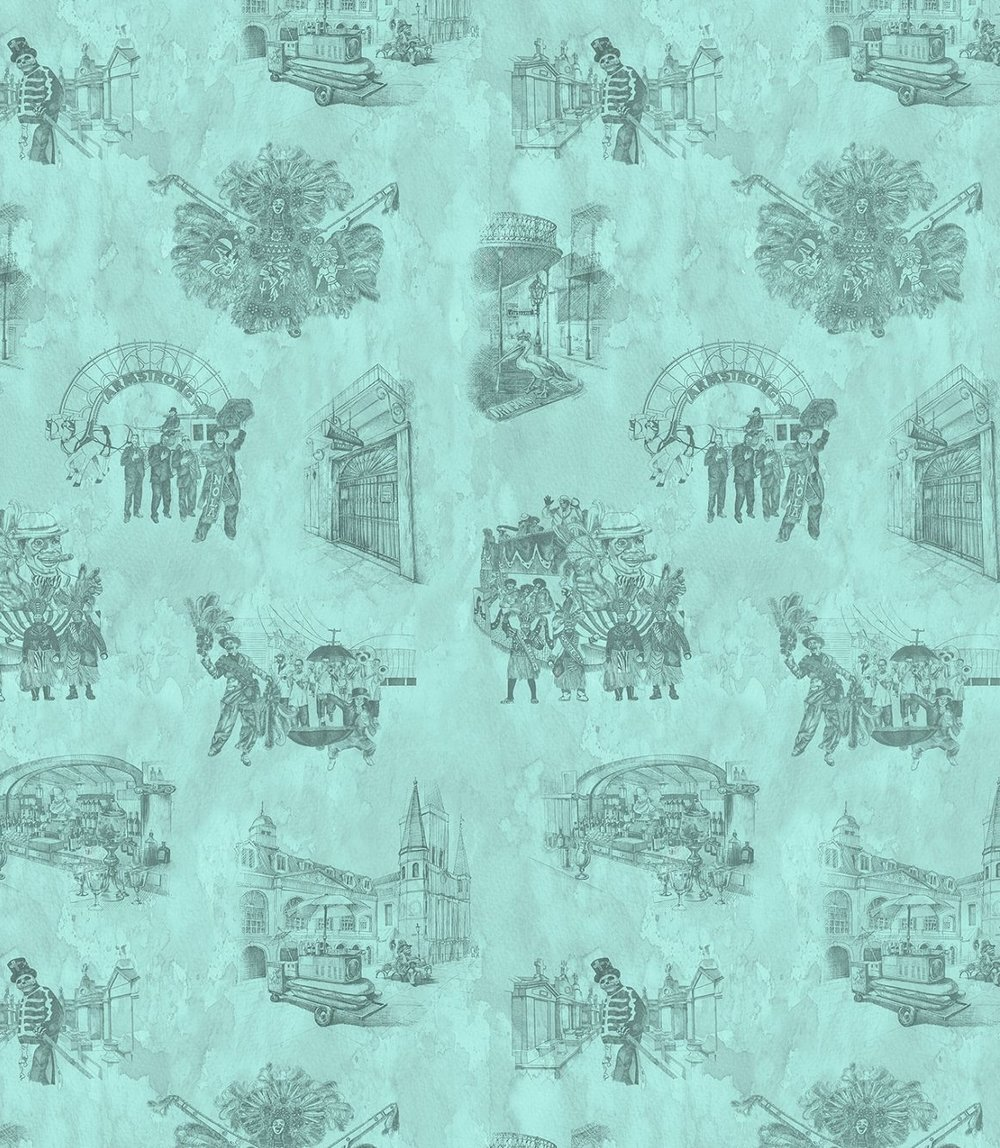 alexa pulitzer 'new orleans toile' wallpaper